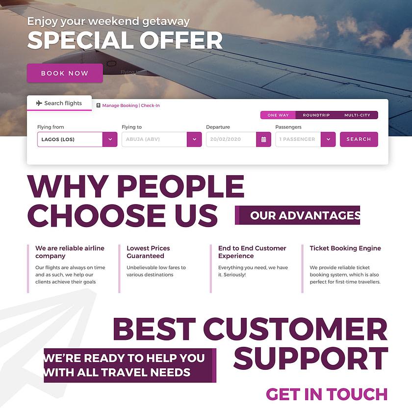 Web design for ValueJet airlines