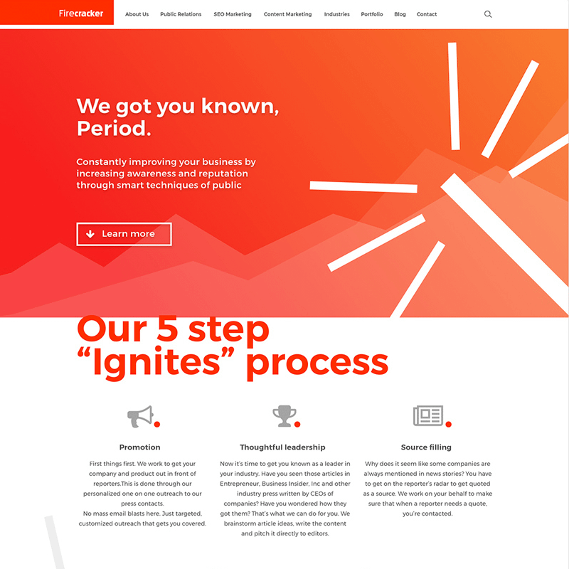 Fire Web design proposal